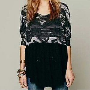 Free People Aztec Eyelet Lace Tunic Top